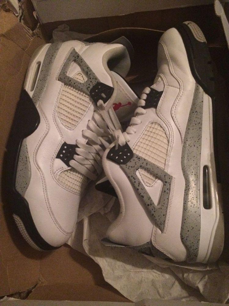 b334ea06fcf6fc White cement Air Jordan 4s Retro. Size - 10.5. excellent conditiom  fashion   clothing  shoes  accessories  mensshoes  athleticshoes (ebay link)