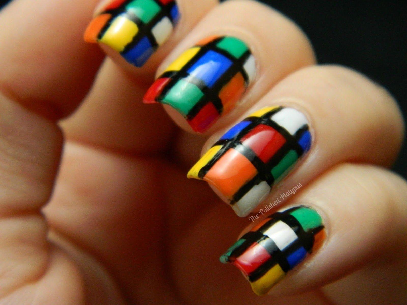 El ornitorrinco Pulido: Cubo de Rubik Nails