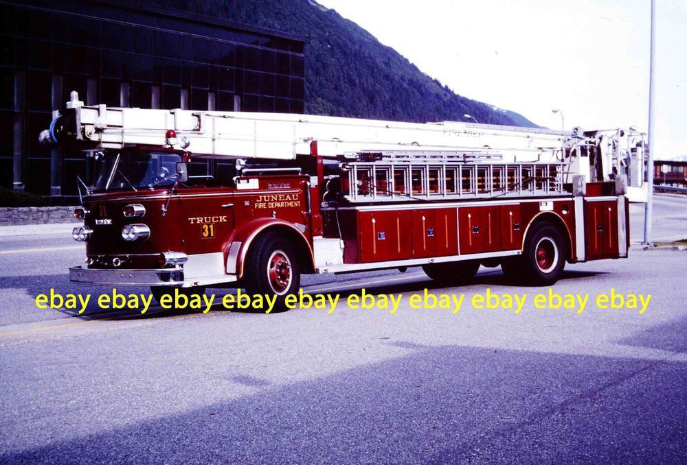 Fire Apparatus Slide Juneau Alaska Fire Dept 1963 American