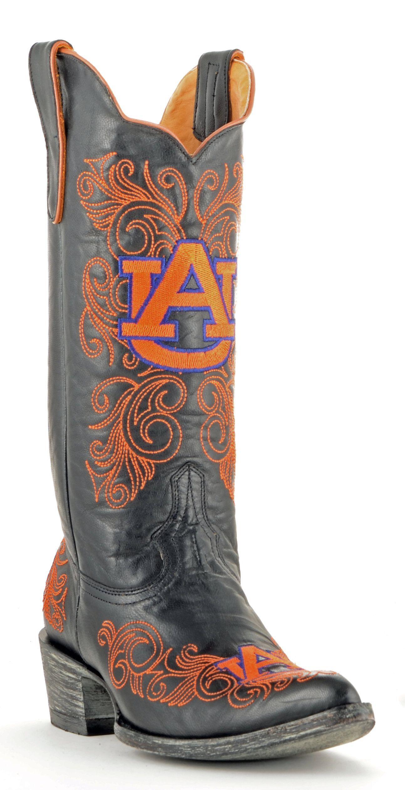 a33c922d304 Womens Auburn boots   Auburn   Cowboy boots women, Black leather ...