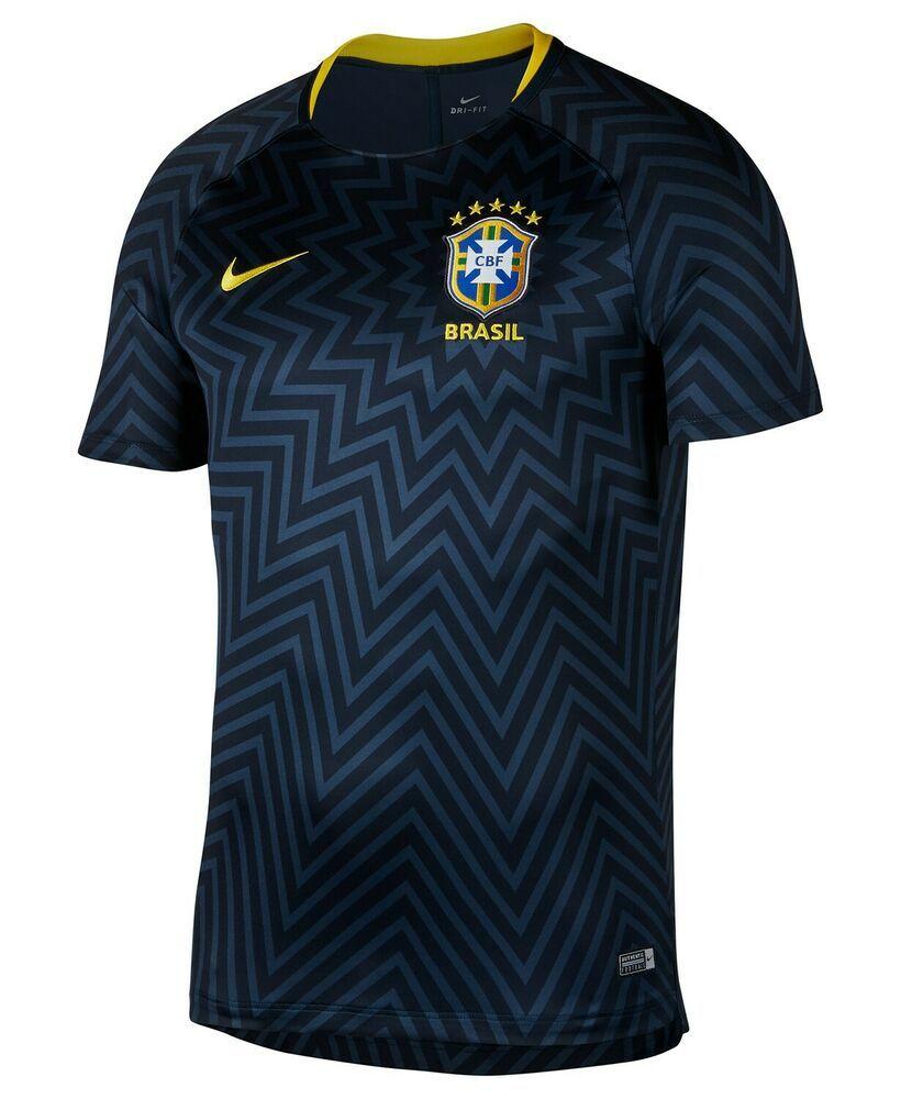 115 Nike Men Blue Short Sleeve Cbf Brasil Soccer Jersey Futbol Dri Fit Shirt M Soccer Shirt Soccershirt Sports Uniform Design Training Tops Football Tops