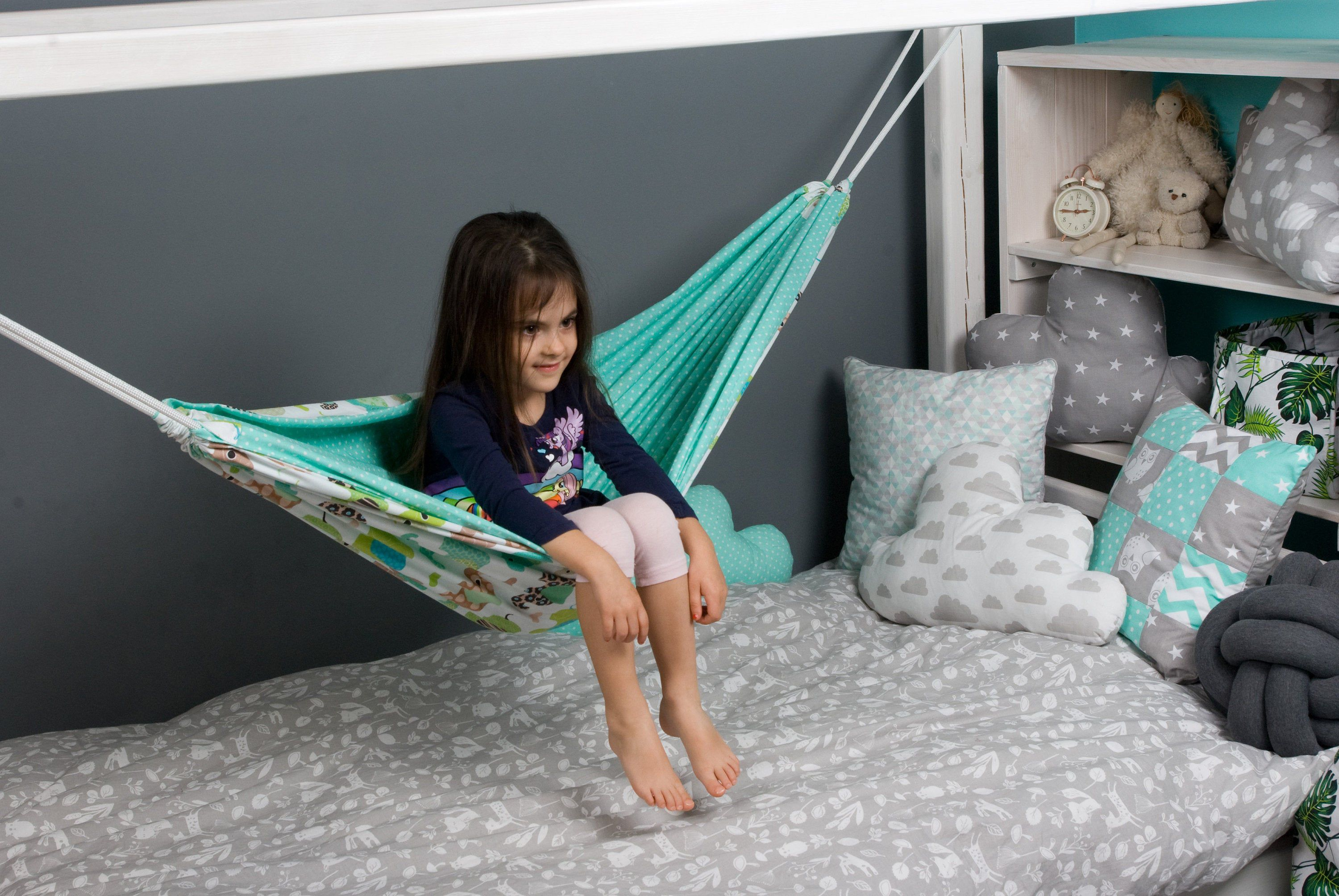 Hammock for toddler bed house Kids fabric Swing Indoor