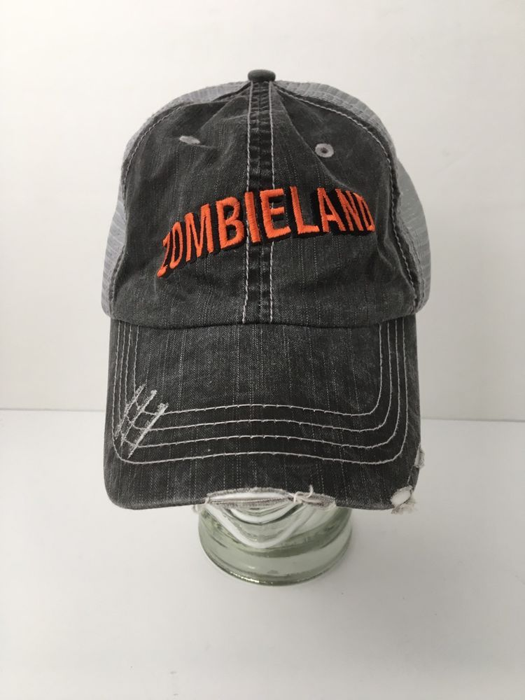 e59336e6182 ZOMBIELAND Distressed Trucker Hat Two Tone Strapback Embroidered EXCELLENT   Unbranded  TruckerHat