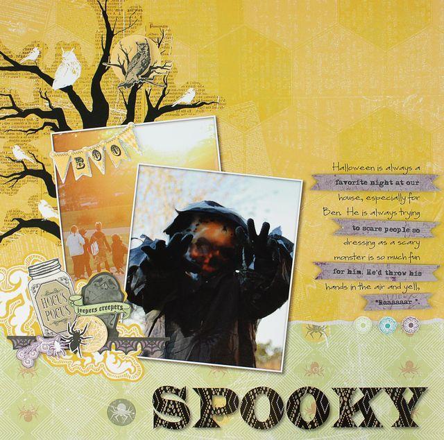 SPOOKY Hocus Pocus Hybrid Layout Project Idea from Creative Memories  http://www.creativememories.com #Halloween