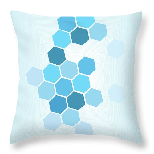 Polygon Pattern Background Throw Pillow for Sale by