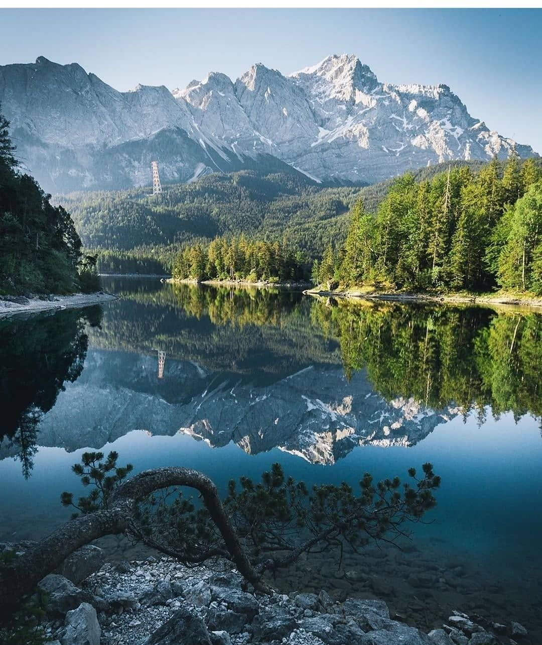 Germany Germany Eibsee Bayern Nature Landscape Landscapephotography Mountains Trees Reflections Sunny Sunnyday Magic In 2020 Eibsee Zugspitze Wandern Zugspitze