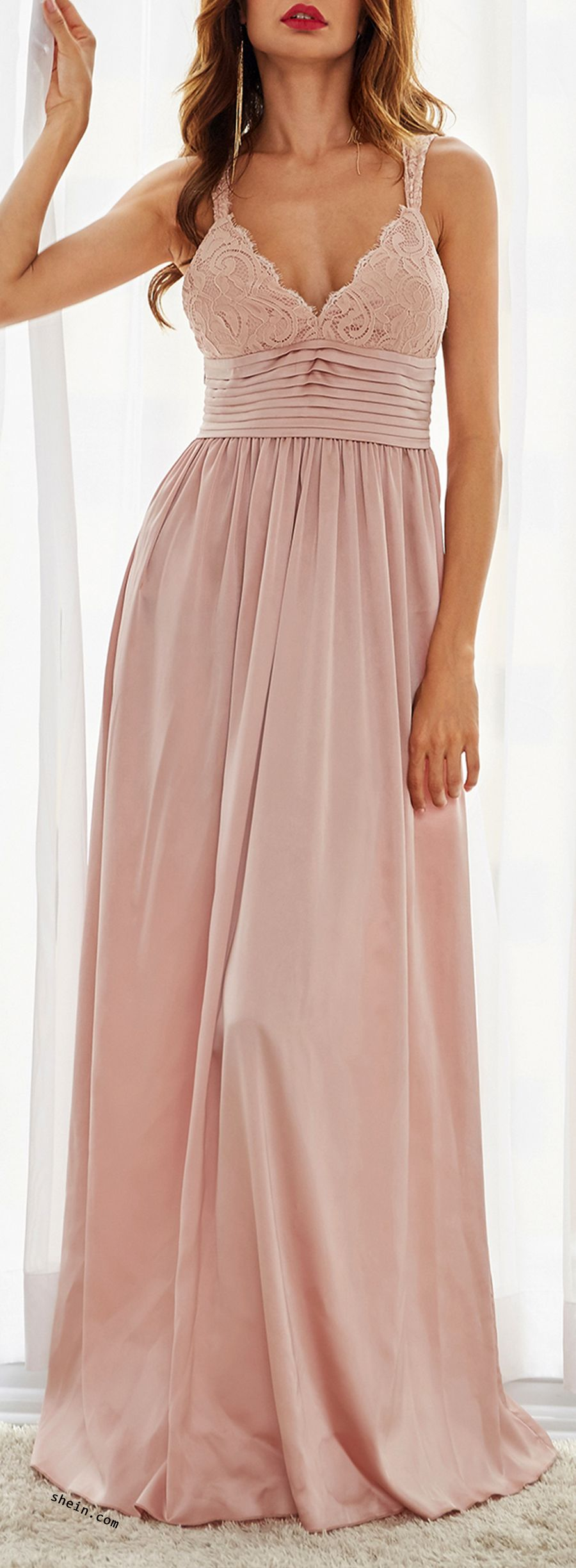 Such beautiful dress for weeding season. A line maxi design with bow ...