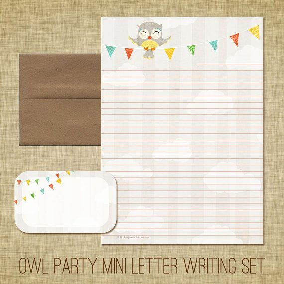 Old fashioned letter writing set
