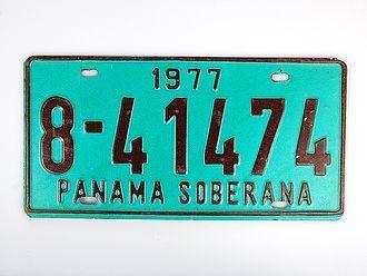 Kennzeichen Panama