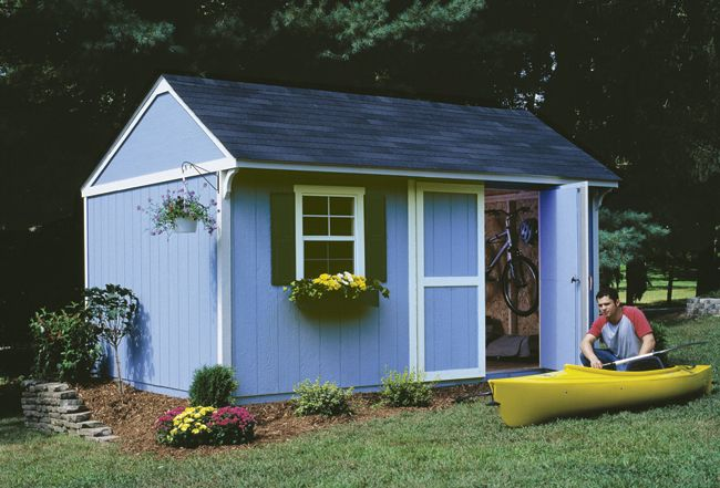 With Some Extra Overhead Space Wouldn T This Make The Perfect Shed For A Pool House Or Other Multi Functional Backyard Bu Pool House Designs Shed Design Shed