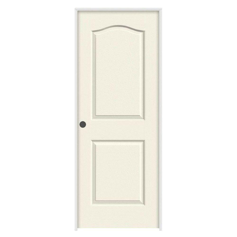Jeld Wen 32 In X 80 Molded Textured 2 Panel Eyebrow Brilliant White Hollow Core Composite Single Prehung Interior Door