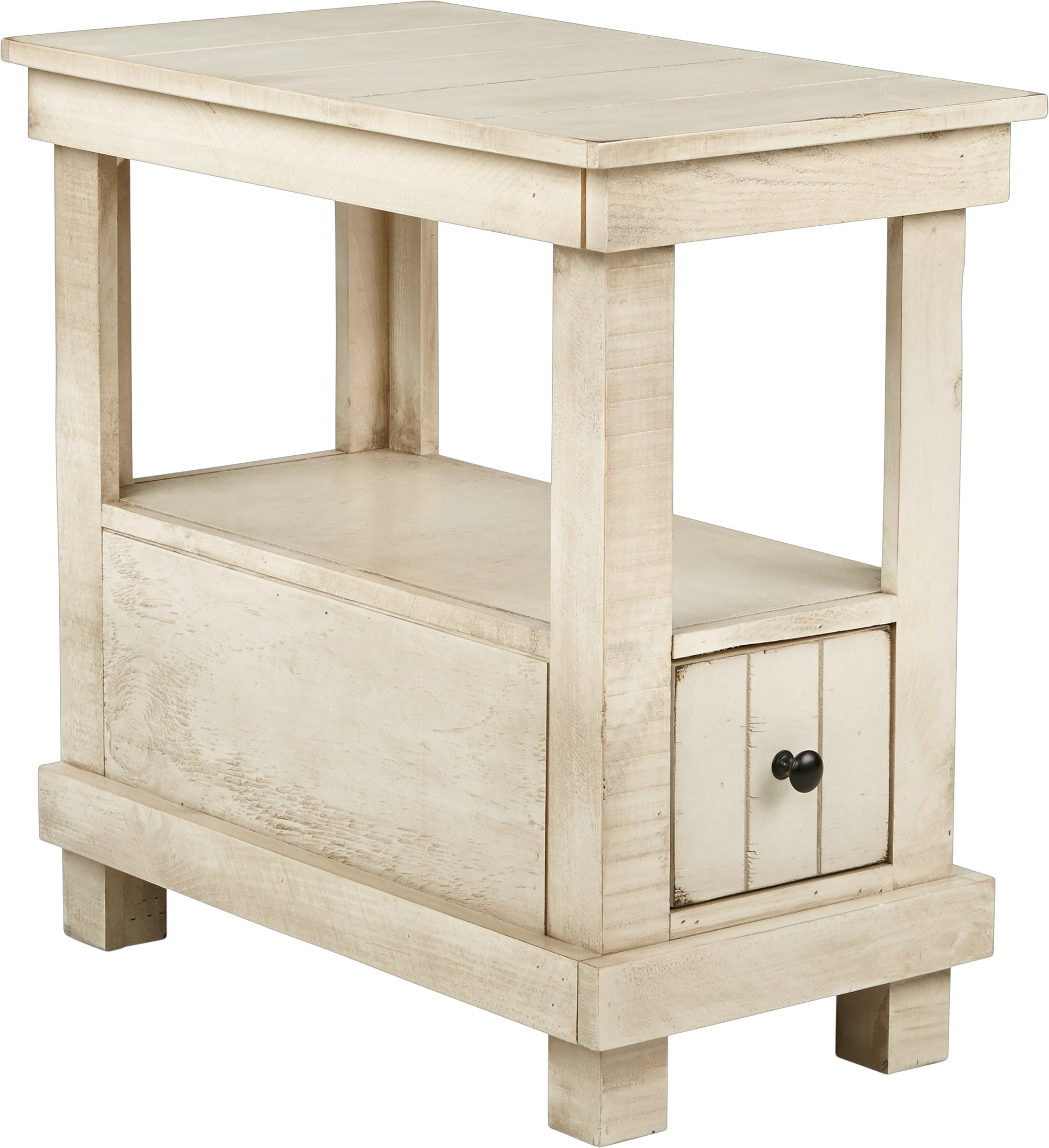 Havenwood White Chairside Table