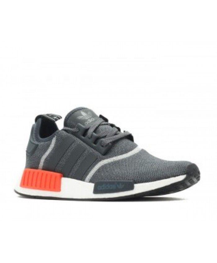 adidas nmd r1 grey solar red