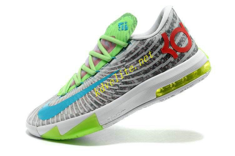 Glacier Blue Nike KD Trey 6 Green Volt 599424 121 | KD VI Low | Pinterest |  Blue nike