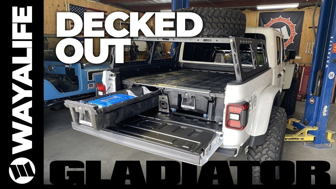 Jeep Gladiator Truck Bed Drawer System by DECKED for