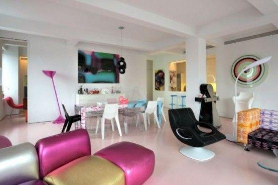 Vivacious Apartment Of Karim Rashid In Juicy Colors   DigsDigs