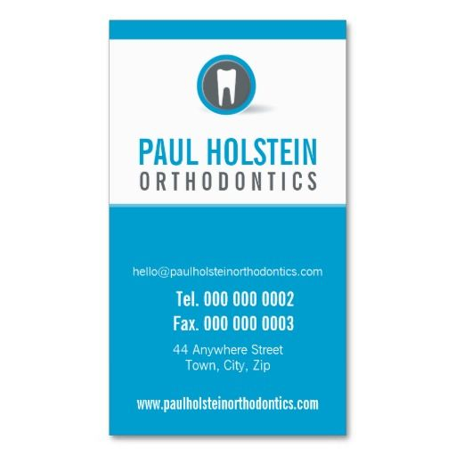 Dentist Appointment Card :: Modern Tooth Logo 7 | Dentist