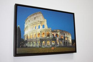 printing on gallery wrapped canvas with floater frame photo frames