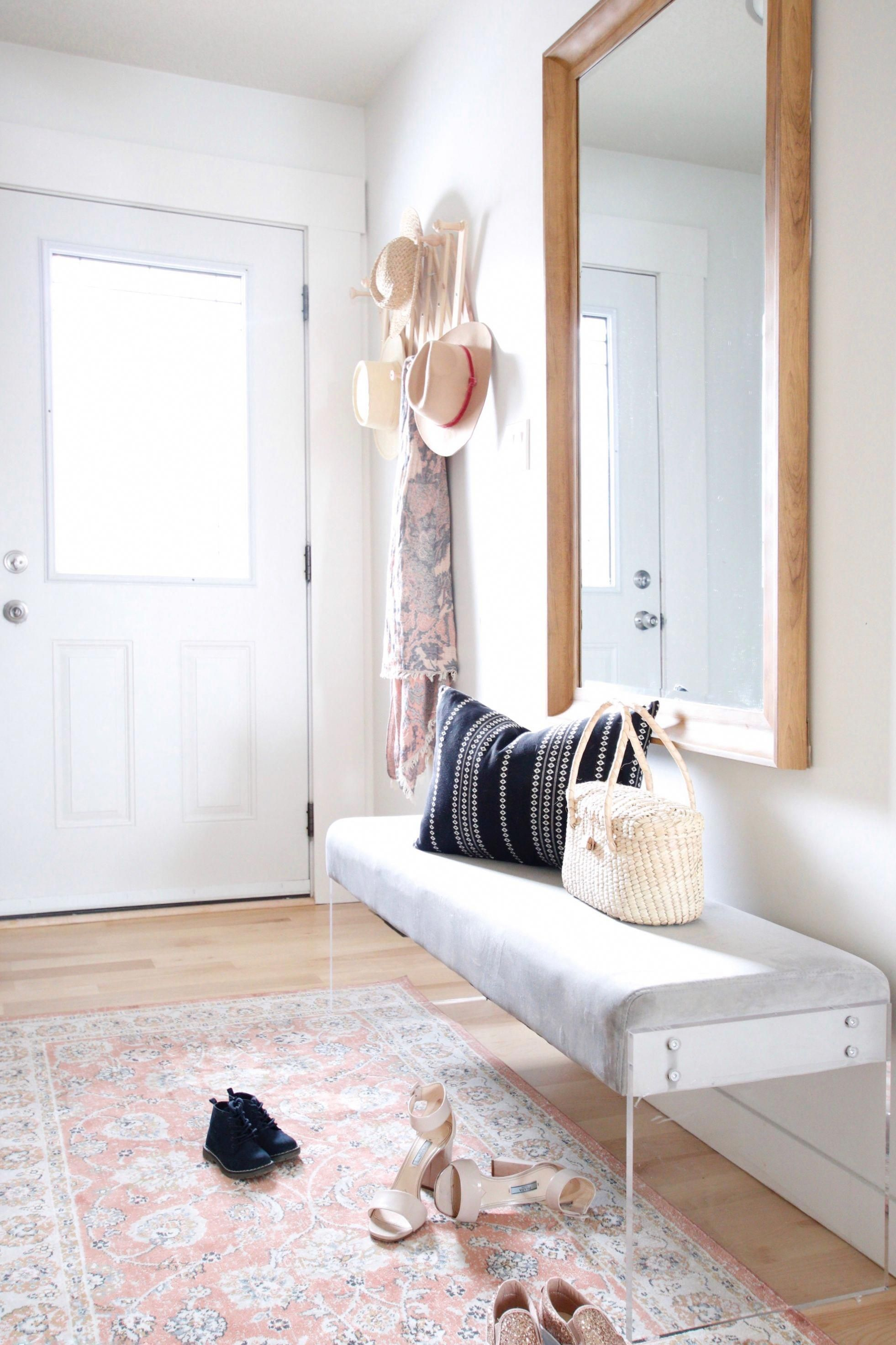 Lti Boho Chic Project Bright Entryway Entry Long Narrow Entry White Front Door Bright Foyer Large Front Door Entryway Small Entryways Apartment Entryway