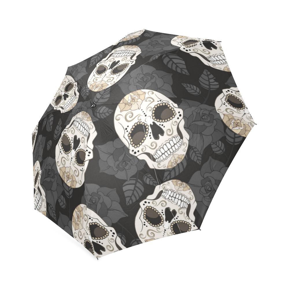 Sugar Skull Foldable Rain Umbrella Compact Parasol//Sun Umbrella