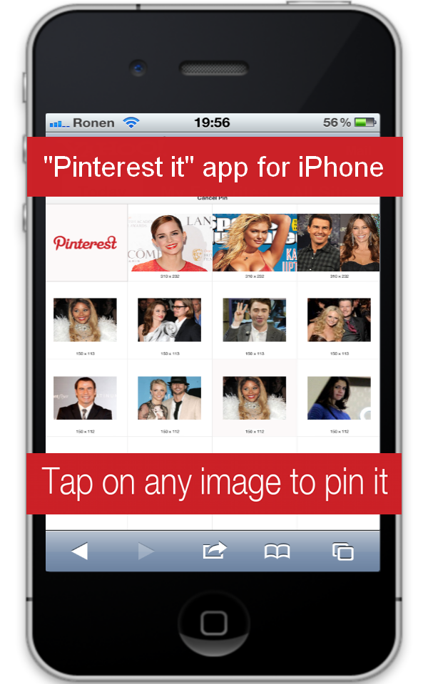 Great app that lets u pin directly from your iPhone! Got