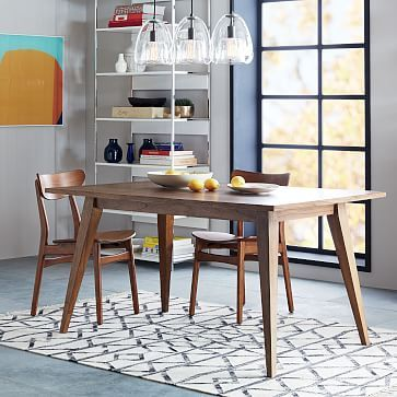 west elm parsons expandable dining table quality square review