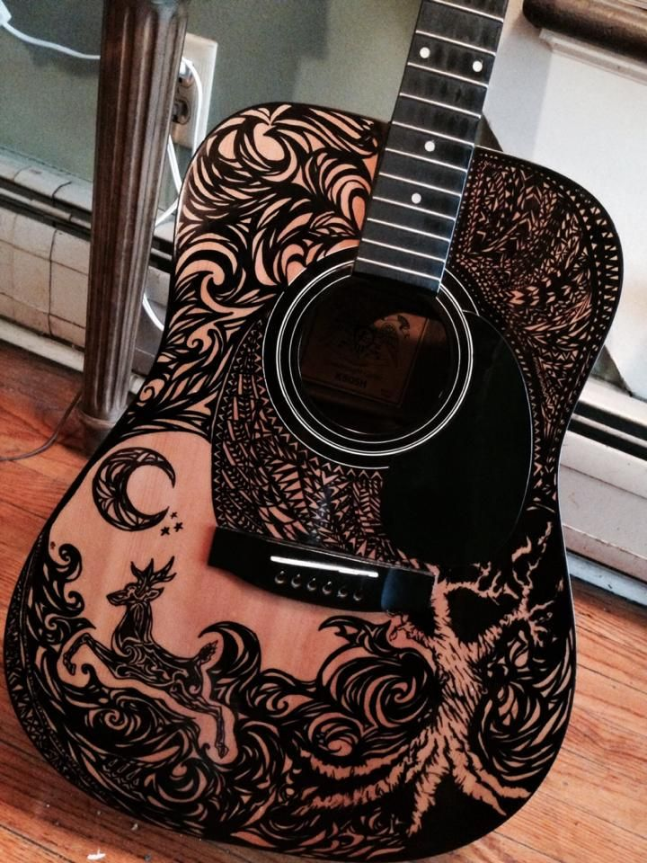 Pin By Julie Mcc On Stuff My Husband Likes Guitar Artwork Guitar Painting Best Acoustic Guitar