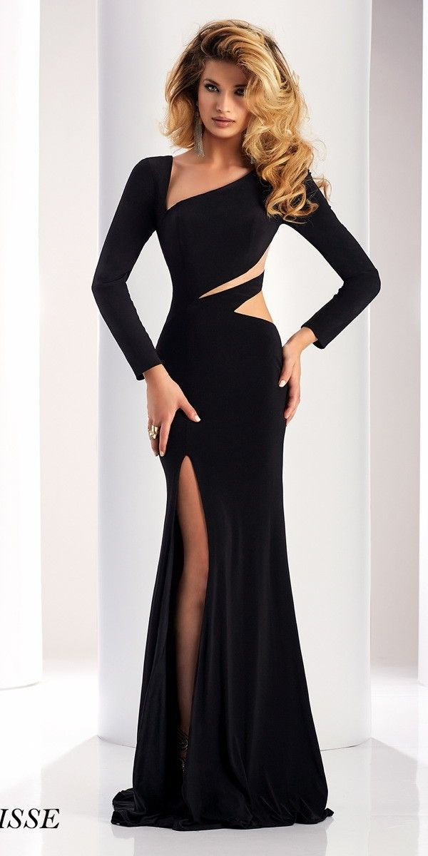 Long Sleeve Cut Out Black Dress | Pinterest | Black, Gowns and Prom