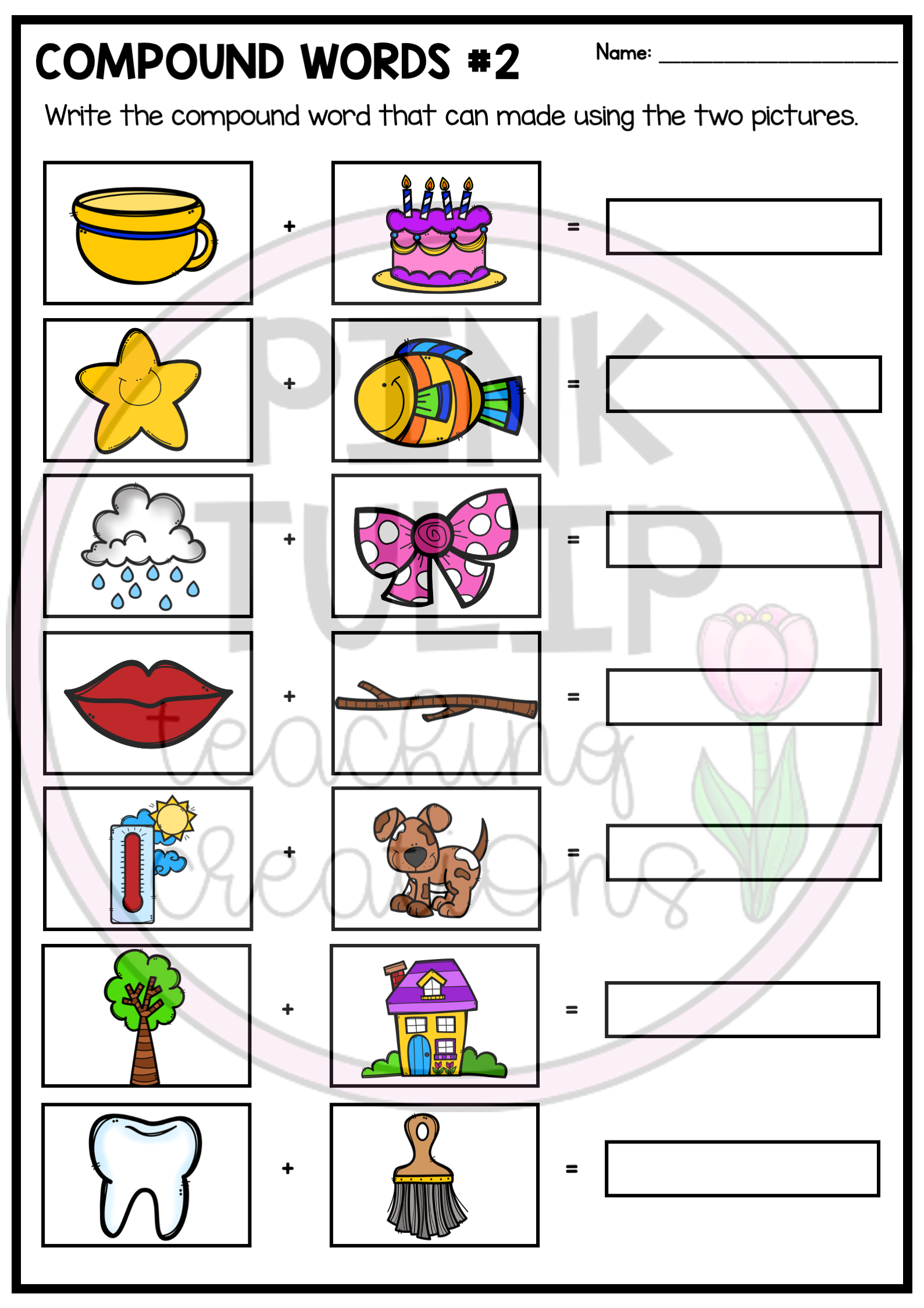Compound Words Worksheet Pack Compound Words Worksheets Compound Words Blend Words