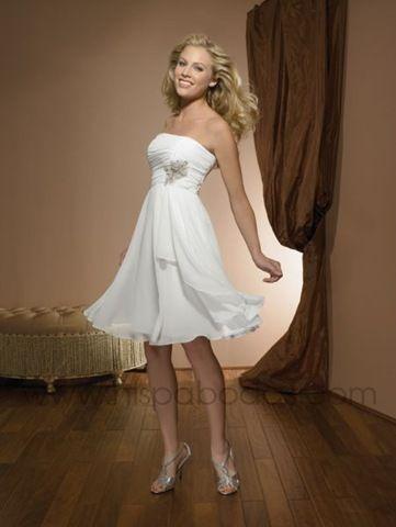 Modelos de vestidos de novia civil cortos