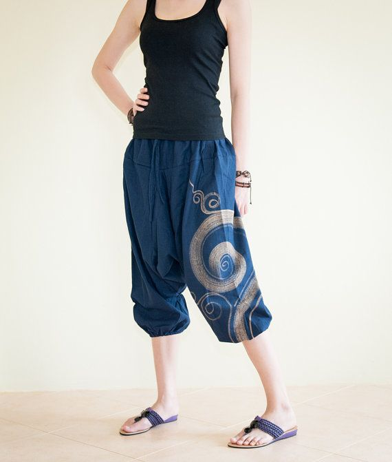 Ancient Warrior 4/5 Length Harem Capri Pants by AmazingThaiStore, $27.00