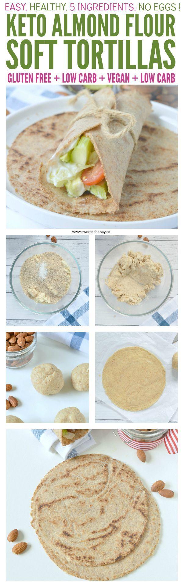 -   Almond flour tortillas keto + low carb + vegan. An easy 5 ingredients recipe to make delicious homemade wraps.