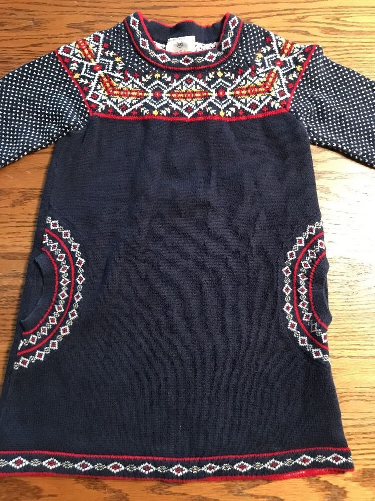 Hanna Andersson Girls Size 100, 4 Fair Isle Long Sleeve Sweater ...
