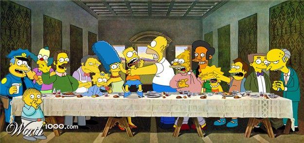 Simpsons Last Supper Con Imagenes Imagenes De Los Simpson