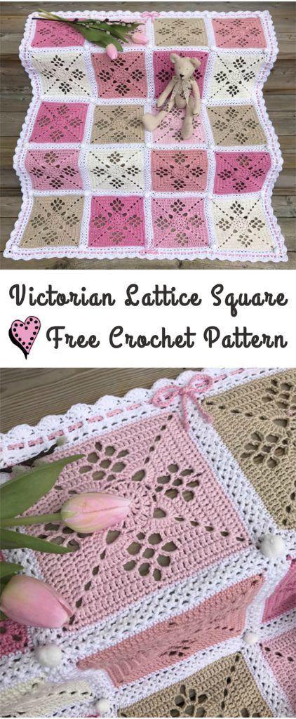 Victorian Lattice Square Crochet Pattern | Pinterest | Häkeln ...
