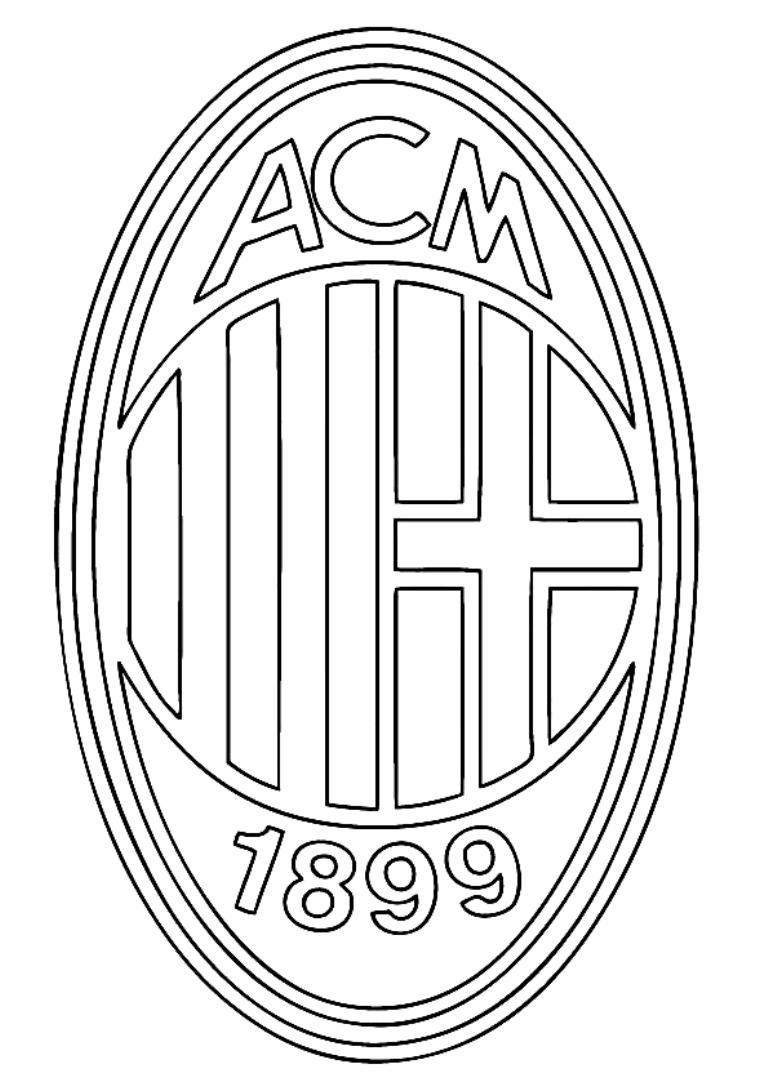 Milan Logo For Coloring חיפוש ב Google Escudo Milán Fútbol