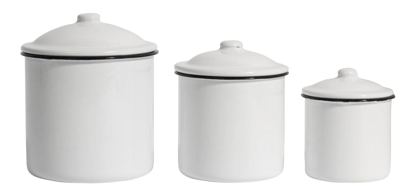 Design Vintage Enamel Cannisters Storage Enamel Jars
