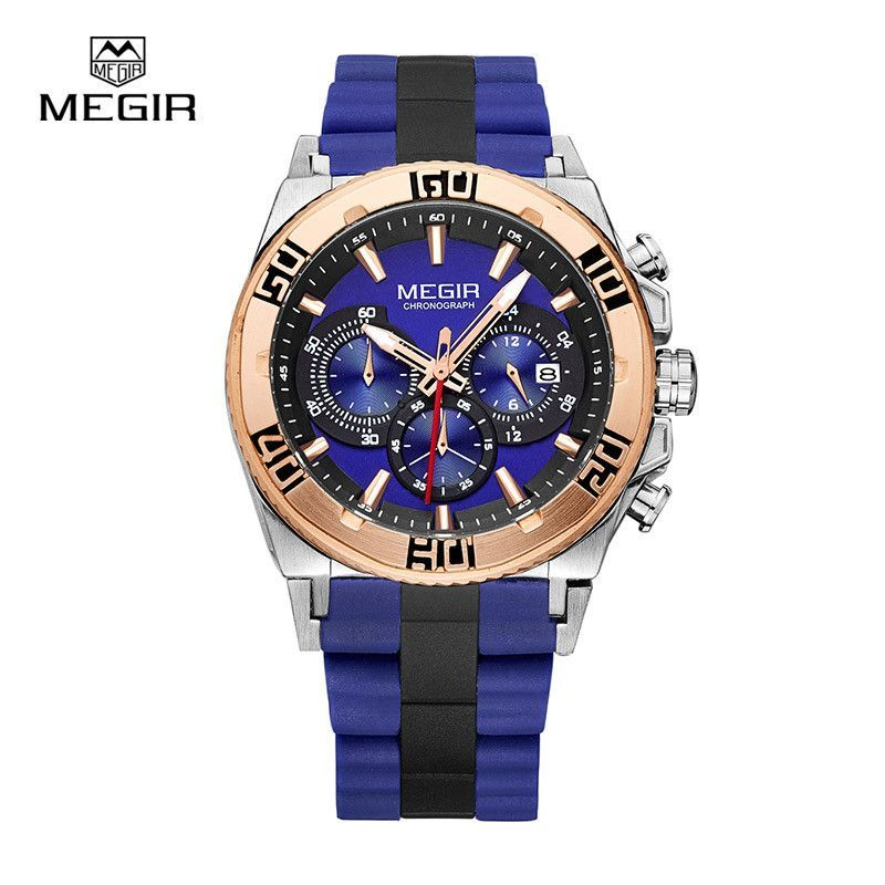 Men's watch Top Luxury brands chronograph sport watches fashion luminous running man quartz wristwatch