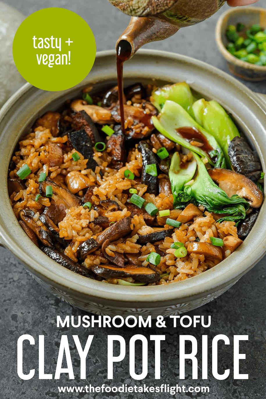 clay pot cooking recipes vegetarian Hong Kong-Style Clay Pot Rice with Mushroom and Tofu