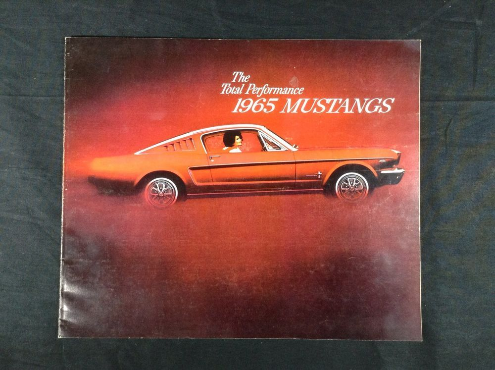 Ford Mustang Dealer Sales Brochure Fastback Falcon