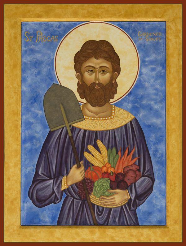 st phocas the gardener icons pinterest patron saints. Black Bedroom Furniture Sets. Home Design Ideas