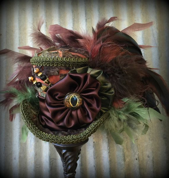 Mini Top Hat The Swamp Thing Mother of Dragons Dragon Eye Hat Alice in Wonderland Steampunk Mini hat Mad Hatter Hat Halloween Hat