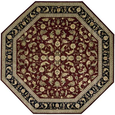 Nourison 2000 Red Area Rug Rug Size: Octagon 10'