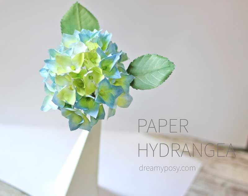 How to make hydrangea paper flower from printer paper so simple this paper hydrangea flower is so easy to make just made from printer paper mightylinksfo