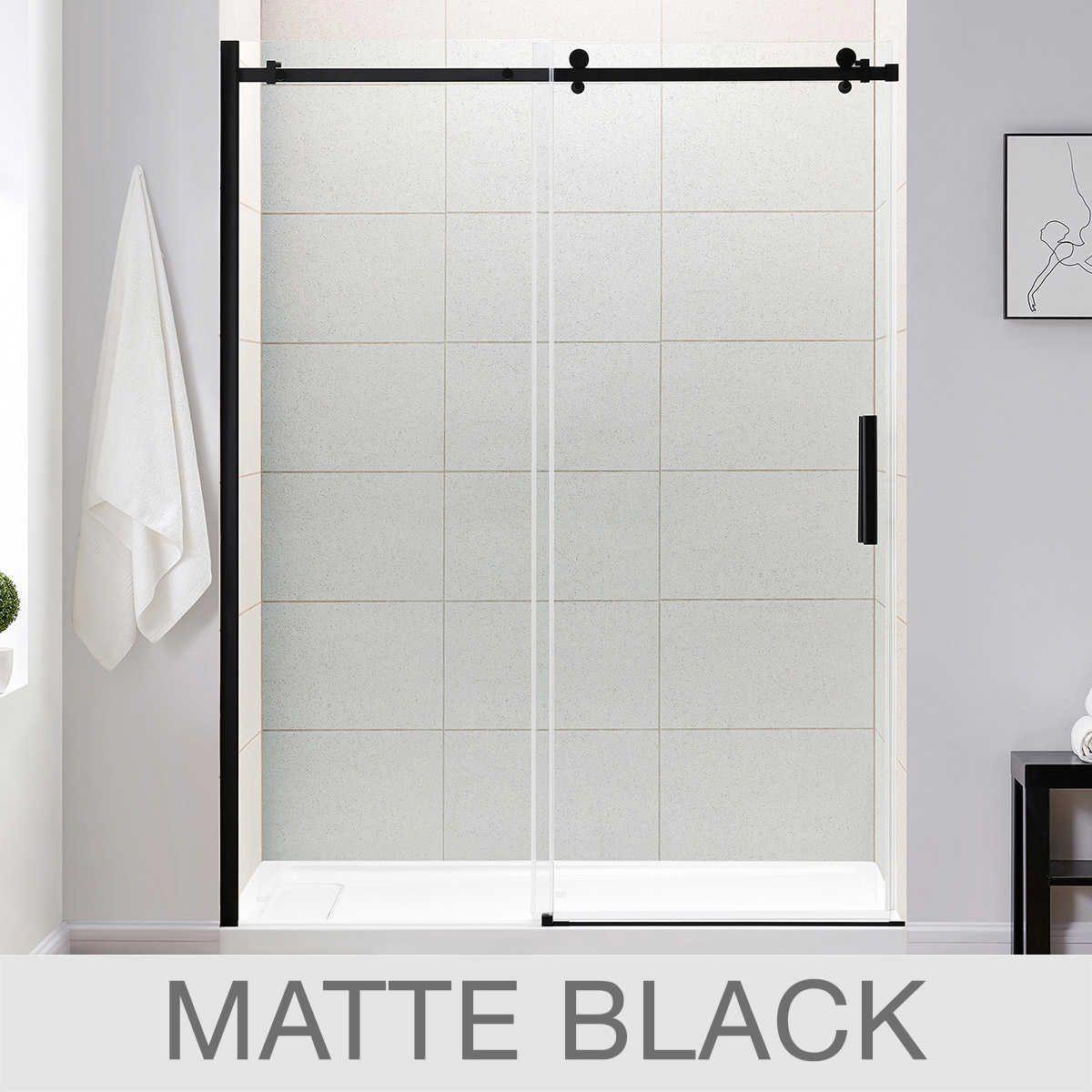 Ove Kelsey 60 Tempered Glass Shower Door 529 Costco Shower Doors Tempered Glass Shower Doors Glass Shower Doors Frameless