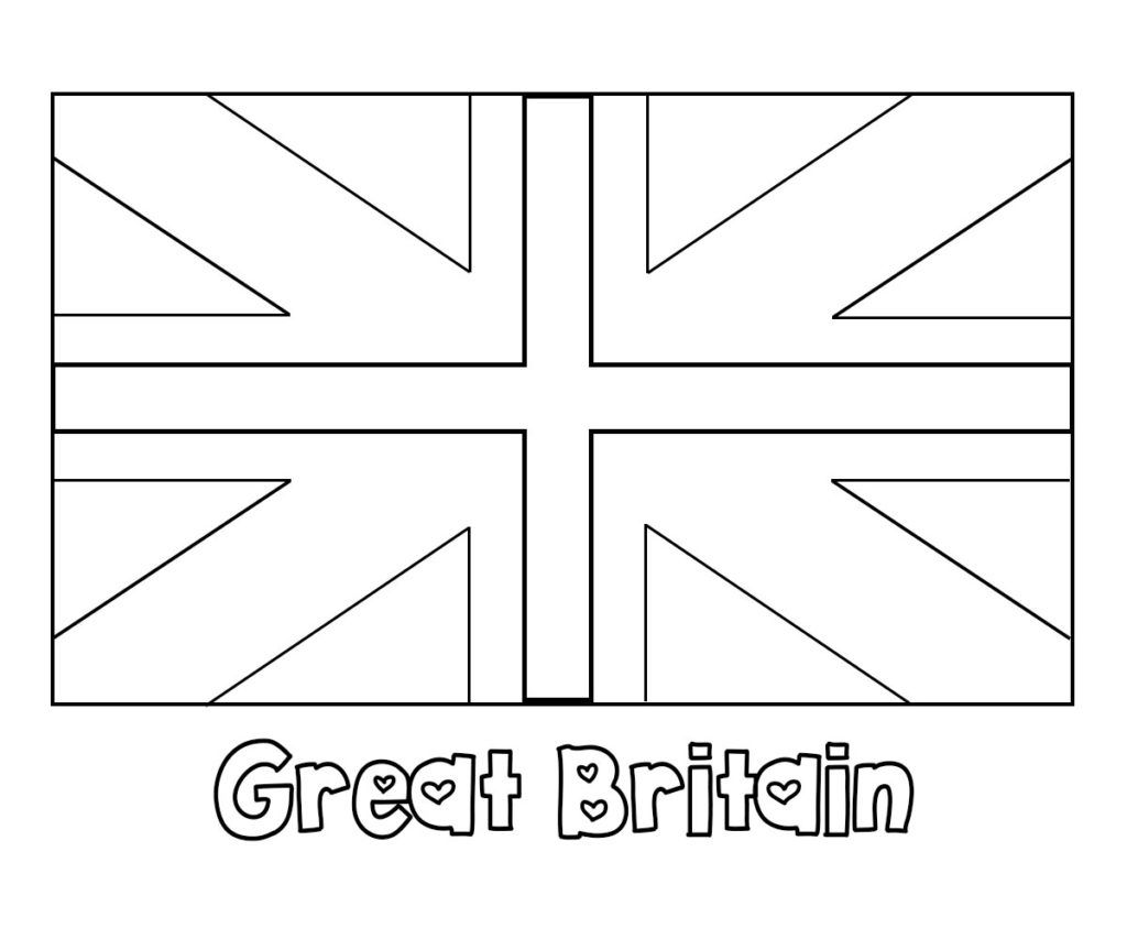 Great Britain Flag Coloring Pages Britain Flag Great Britain Flag Flag Coloring Pages