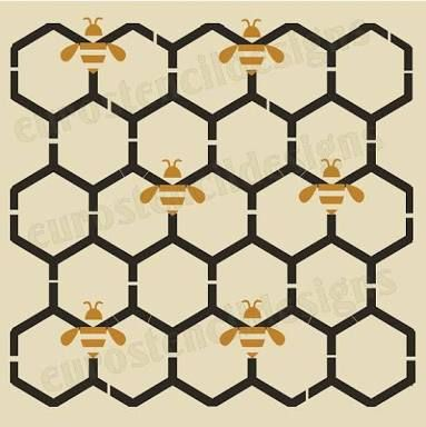 Image result for honeycomb painting | Bzzzz | Pinterest