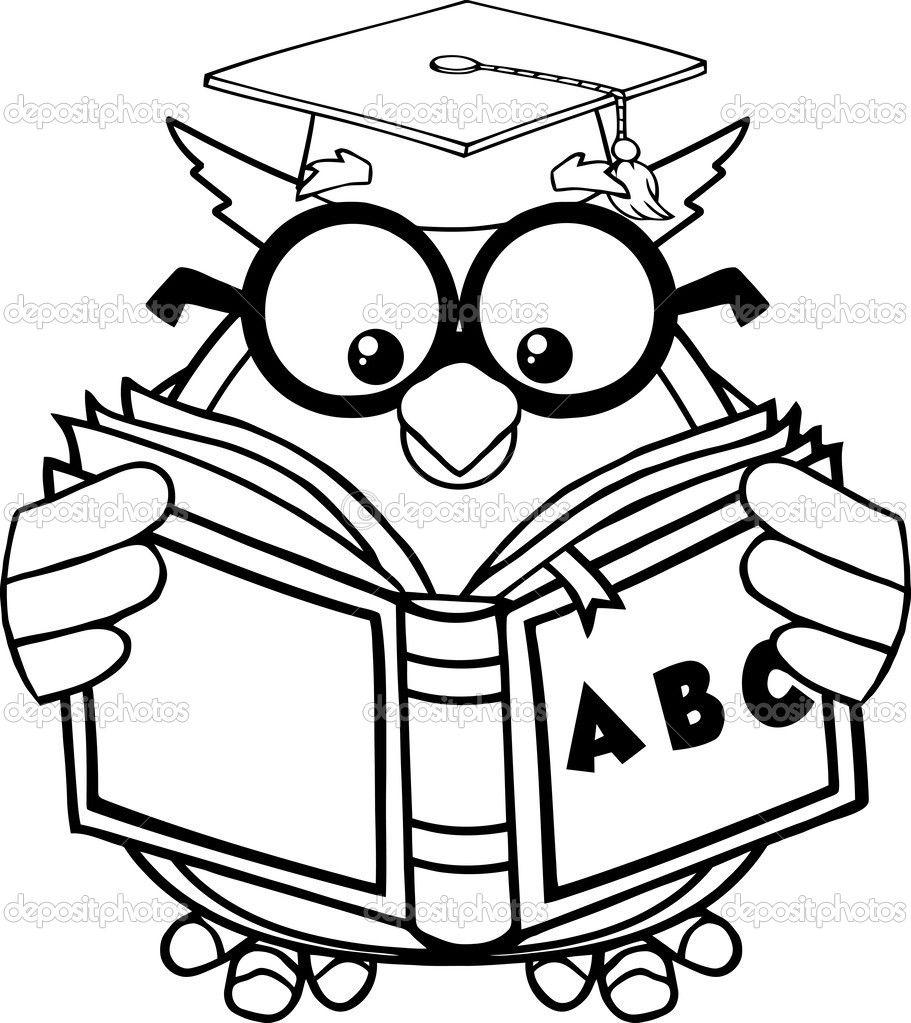 Coruja Lendo Livro Desenho Pesquisa Google Com Imagens