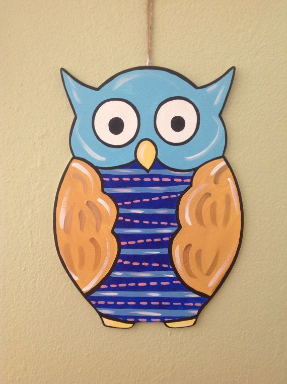 Owl door hanger on Etsy, $18.00