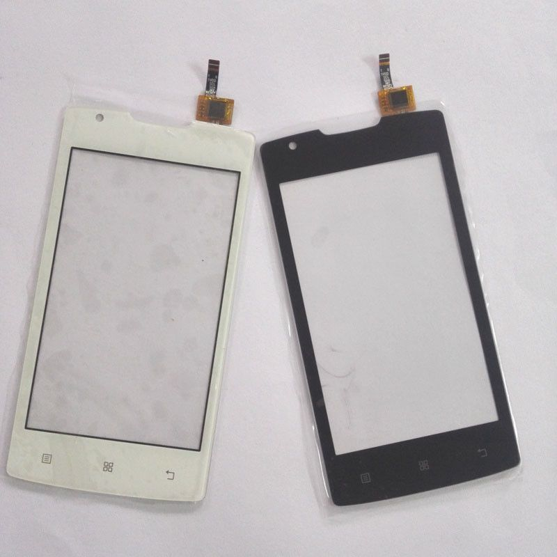 New Touch Panel For Lenovo A1000 Phone Touch Screen Digitizer Front Glass Sensor Black White Color +3m sticker
